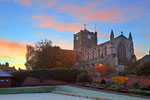 Photograph Autumn sunrise over Hexham Abbey, Northumberland