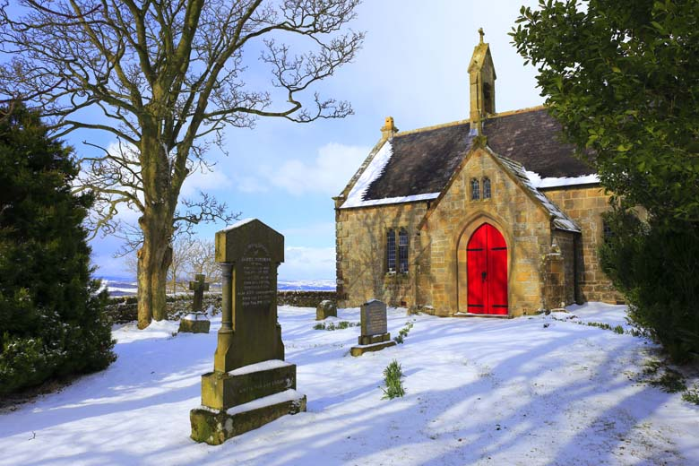 St Oswald's Church, Heavenfield, Hadrian's Wall, Northumberland