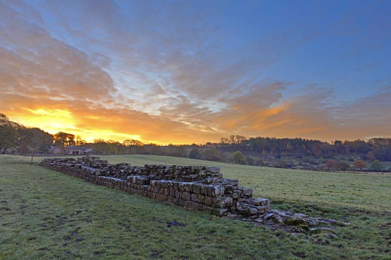 Planetrees, Hadrian's Wall, Northumberland, Winter, Sunrise, Hadrian's Wall Path