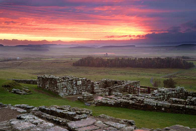 South Gate, Housesteads, Roman Fort, Hadrian's Wall, Northumberland
