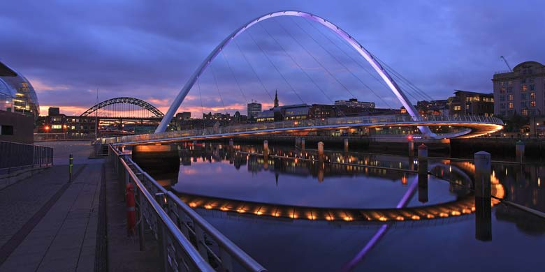 Gateshead Millennium Bridge, Quayside, Newcastle Upon Tyne