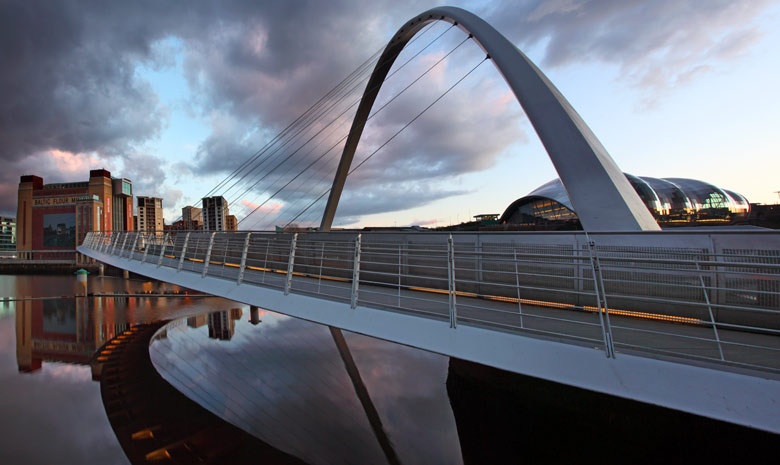 Gateshead Millennium Bridge and Sage, Newcastle Upon Tyne