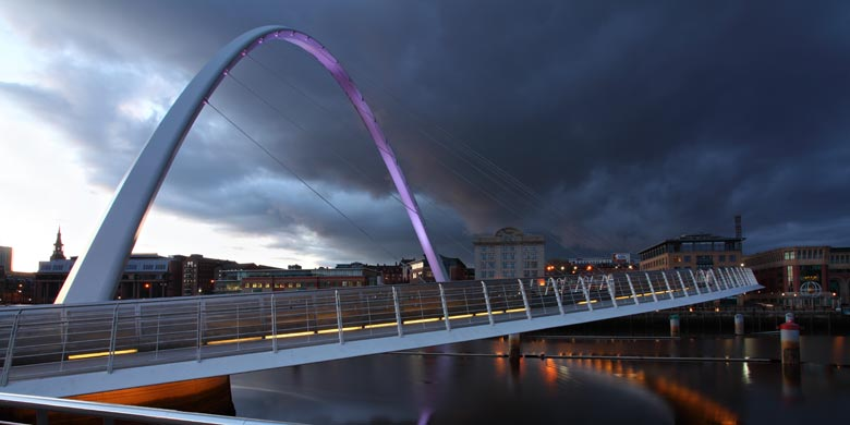 Millenium Bridge, Quayside, Newcastle Upon Tyne