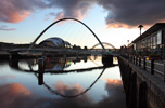 Photograph Gateshead Millennium Bridge and Sage, Newcastle Upon Tyne