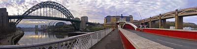 Photograph Four Bridges Panorama, Newcastle Upon Tyne