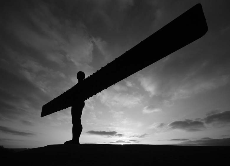 Angel of the North Black & White
