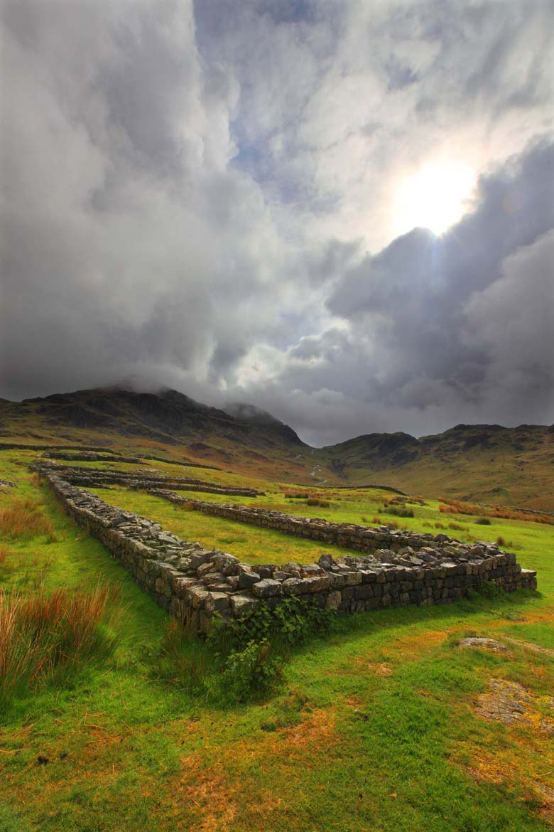 Hardknott Roman Fort, Hardknott Pass, Lake District, Cumbria